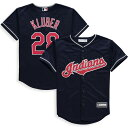 マジェスティック Majestic Corey Kluber Cleveland Indians Youth Navy Alternate Cool Base Replica Player Jersey キッズ