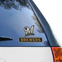 WinCraft Milwaukee Brewers 4'' x 5'' Perfect Cut Decal еце╦е╗е├епе╣