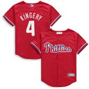 マジェスティック Majestic Scott Kingery Philadelphia Phillies Youth Red Alternate Cool Base Replica Player Jersey キッズ