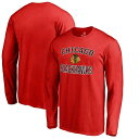 Chicago Blackhawks Red Victory Arch Long Sleeve T-Shirt メンズ