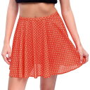 リズム Rhythm Juniors Red Daisy Skater Mini Skirt ユニセックス