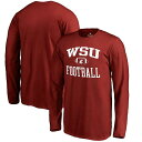 Fanatics Branded Washington State Cougars Youth Crimson Neutral Zone Long Sleeve T-Shirt キッズ