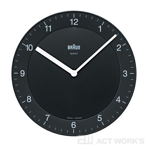 BRAUN BNC006−NRC 壁掛け時計 ブラウン 【ウォールクロック 掛時計 かけ時計 とけい ブランド メンズ レディース アナログ 表示 置時計】