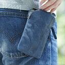 《全4色》hmny casual 1マイルバッグ B-080 レザー 【シンプル デザイン 皮革 お散歩バッグ カメラケース タバコケース お財布入れ スマホケース 日本製】
