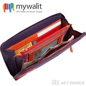 《全9色》mywalitラウンドジップ長財布イタリア革ジップラウンドパース