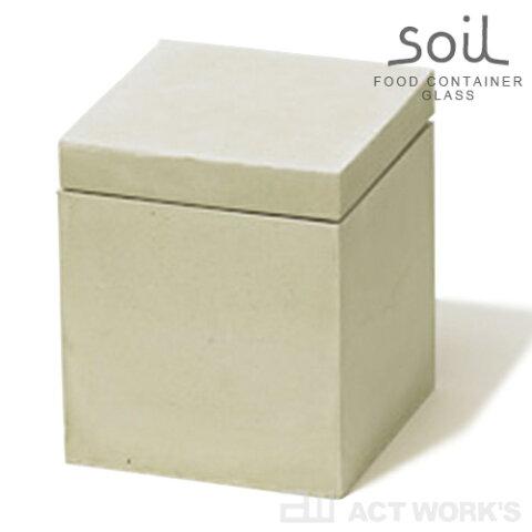 《全3色》soil ソイル フードコンテナ スクエア 角型 Mサイズ FOOD CONTAINER square【キッチン収納 にんにくショウガ 生姜 スパイス 調味料 乾燥 調湿】