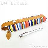 《全6色》united bees 国産帆布 バトンペンケース2 【ユナイテッドビーズ デザイン雑貨 文房具 筆箱 筆入れ ステーショナリー 北欧】