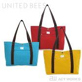 《全5色》united bees 国産帆布 ヨコトート 【ユナイテッドビーズ デザイン雑貨 bag カバン 通勤 通学 北欧】