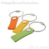 《全20色》WIRE TAG ワイヤーキーホルダー VintageRevivalProductions【デザイン雑貨 キーリング ワイヤータグ 日本製 本革 レザー】