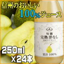 【送料無料】特別厳選果実果汁100%信州洋なし250ml×24本【smtb-k】【kb】