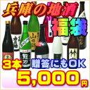 旬の地酒を贈る!兵庫の酒福袋3本5000円(燗酒・冷酒)日本...