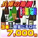 旬の酒を贈る!兵庫の地酒福袋3本7000円(燗酒・冷酒)日本...