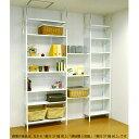 スチールだからできる!圧迫感のない壁面収納。 頑丈なスチール棚にどんどん収納してリビングを一気にスッキリ!