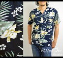 アロハシャツ メンズ【RB-N12】アロハ 大きいサイズ レーヨン ハワイアン ハイビスカス 花