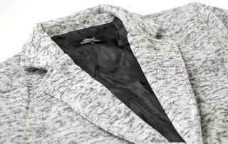 秋アウターニットフリースジャケットテーラードジャケットメンズ02P01Oct162Bニットジャケット杢生地秋物ジャケットテーラードジャケット2つ釦テーラードJKT黒白紺ブラックホワイトネイビー