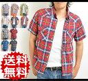 【送料無料】チェックシャツ メンズ 半袖 チェックシャツ ウエスタンシャツ チェック 半袖 チェックシャツ メンズ ウエスタン チェックシャツ ブルー 半袖 綿 コットン チェックシャツ メンズ カジュアルシャツ 10P03Dec16