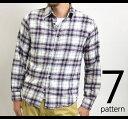 ネルシャツ(チェックシャツ ウエスタンシャツ フランネルシャツ 長袖シャツ アメカジ チェック フランネル シャツ ウエスタン チェック柄 メンズ)MEN'S FLANNEL CHECK SHIRT 大きさイズXL(LL)3L 4L 10P27Jan14【RCP】【あす楽対応_九州】【楽ギフ_包装】