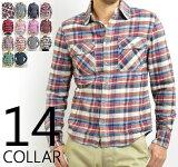 レビューを書いて【】ネルシャツ(ネル チェックシャツ/長袖シャツ/ワークシャツ/フランネルシャツ WORK CHECK SHIRT MEN''Sメンズ フランネル アメカジ チェッ