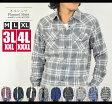 【送料無料】ネルシャツ メンズ チェックシャツ 大きいサイズ3L(XXL)4L(XXXL)あり 長袖シャツ チェックネルシャツ フランネルシャツ 10P03Dec16 カジュアル シャツ 長袖 チェック柄 ウエスタンシャツ アメカジ 綿 コットン100% 秋 秋服 秋物 冬 mb