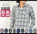 【送料無料】ネルシャツ メンズ チェックシャツ 大きいサイズ3L(XXL)4L(XXXL)あり 長袖シャツ チェックネルシャツ フランネルシャツ 02P01Oc...