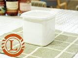 **野田琺瑯 ホワイトシリーズ スクウェア L ( WS-L ) 【 野田ホーロー NodaHoro 保存容器 ホーロー 長方形 ガラス素材 日本製 洋食器 ブランド食器 北欧 お