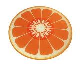 JosephJoseph ジョゼフジョゼフ 耐熱強化ガラスカッティングボード丸型(オレンジ)【アドキッチン】