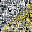 [ 1.5mまで メール便 送料無料 ] マリメッコ MARIMEKKO 生地 プータルフリン パルハート PUUTARHURIN PARHAAT 【ブラック・イエロー】 選べる2色 ( 30cm以上〜10cm単位で切り売り ) [ アドキッチン ]
