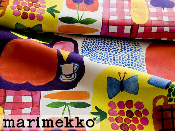 *MARIMEKKO/マリメッコ KESATORI/ケサトリ 生地 (30cm以上〜10cm単位で切り売り) 《ファブリック》 【北欧/布】<マルチ>【アドキッチン】