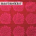 《1.5mまでメール便送料無料》 (レアカラー) マリメッコ プケッティ 生地 <レッド×レッド> (30cm以上〜10cm単位で切り売り) 《ファブリック》 【 MARIMEKKO PUKETTI 北欧 布 】