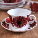 グスタフスベリ ( Gustavsberg ) レッドアスター コーヒーカップ&ソーサー 復刻版 RED ASTER カップ ソーサー 食器 洋食器 ブランド食器 北欧 [ アドキッチン ]