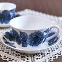 グスタフスベリ ( Gustavsberg ) ブルーアスター ティーカップ&ソーサー 復刻版 BLUE ASTER カップ ソーサー 食器 洋食器 ブランド食器 北欧 [ アドキッチン ]