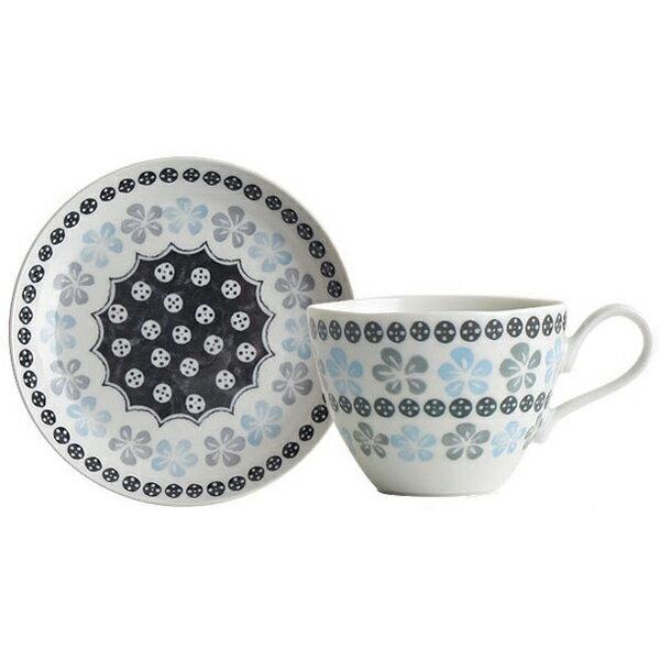 ポタリーフィールドコーヒーカップ&ソーサー<ブルーフラワー>コーヒーカップカップソーサー皿日本製美濃