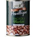 POSILLIPO(ポジリポ) ボルロッティ うずら豆の水煮缶 400g【 ※ご注文後のキャンセル・返品・交換不可。 】