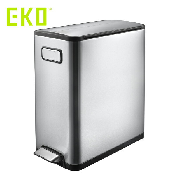 EKO エコフライ ステップビン 20L ( EK9377MT-20L ) 【 エコ ごみ箱 ゴミ箱 ダストボックス シルバー 】