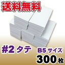 【12月7日入荷予定予約分】【送料無料(一部地域を除く)】クッション封筒1箱300枚入り #2縦 (B5サイズ)【あす楽対応】
