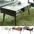 【送料無料】【代引可】ローテーブル ORLEANS(オリンズ)【収納付きガラステーブル】 テーブル サイドテーブル 机 座卓 センターテーブル 収納 引き出し