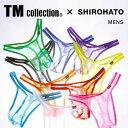 【メール便(3)】 (ティーエム コレクション)TM collection×SHIROHATO 別注 スパークハーフ Tバック ビキニ メンズ ADIEU