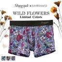 (グレイブボールト)Gravevault × SHIROHATO 別注 WILD FLOWERS ボクサーパンツ ショート メンズ 前とじ S M L XL 3051782 ADIEU