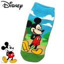 ショッピングマウス ミッキーマウス アンクルソックス レディース BLUE Disney ディズニー Mickey Mouse キャラクター レッグウェア キャラックス 【RCP】