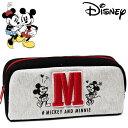 ショッピングミニー ミッキーマウス&ミニーマウス イニシャルペンケース レディース キッズ Disney Mickey Mouse and Minnie Mouse ディズニー キャラクター ステーショナリー グッズ 小物入れ 【RCP】
