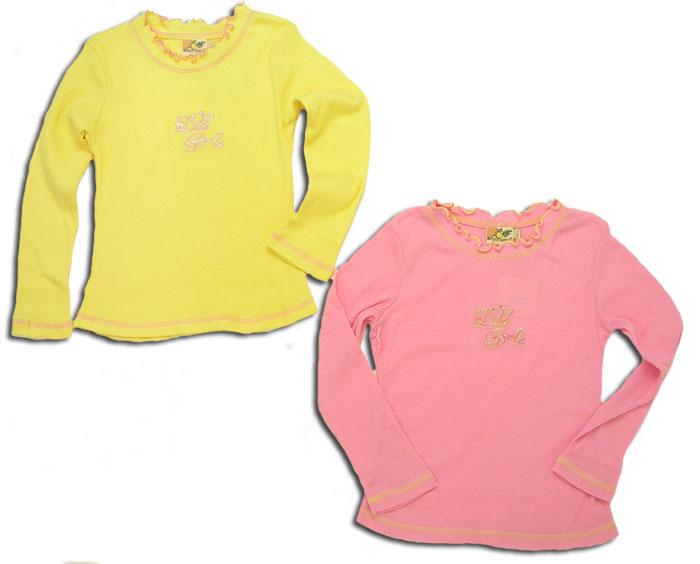 【子供服】活発な歩調 差し色にぴったりフリル付きデザイン長袖Tシャツ(濠Du)子供 誕生日プレゼント 子ども 子供服 ブランド 上品 アドゥラブル