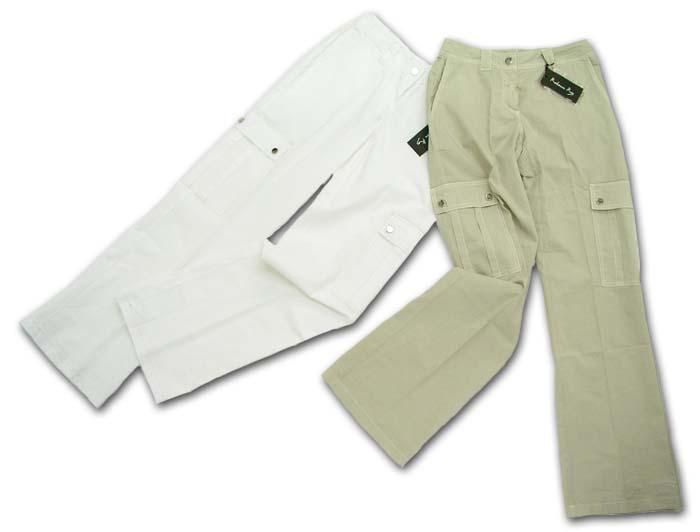 【婦人服】大きなポケットがポイント!カジュアルラインパンツ(伊Re)【あす楽対応_関東】