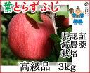 【青森りんご】葉とらずで味が濃縮葉とらずふじ高級品 3kg農薬70%削減で栽培したリンゴです!【減農薬栽培・県認証有り】