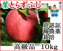【青森りんご】葉とらずで味が濃縮葉とらずふじ高級品 10kg農薬70%削減で栽培したリンゴです!【減農薬栽培・県認証有り】