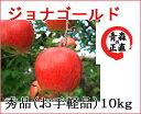 ジョナゴールド 秀品 約10kg 県認証無し りんご リンゴ お手軽品 青森 国産 認なし