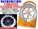 【在庫処分】【格安即納】電池不要!AC充電式サーキュレーター扇風機32LEDランタン