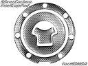 バイク2輪用!カーボンルック汎用ガソリンタンクキャップカバー【HONDAホンダ車7穴用】◆メール便送料無料