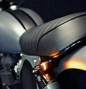 白色LEDデイライト付き ハンドルバーエンドウインカー COBチップオンボード バイクオートバイ汎用パーツ 12V LED省電力【期間限定特価】【クーポン】カフェレーサー スカチューンに!デイライト付汎用LEDハンドルバーエンドウインカーセット