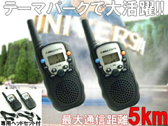 Headset with 20ch5kmtype transceiver equipped with two new features