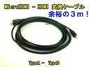 【メール便可】MicroHDMI-HDMI HIGH SPEED マイクロHDMIケーブル3m